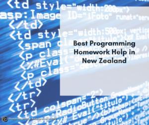 best programming help New Zealand