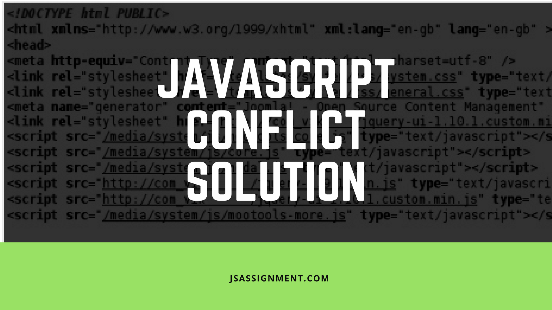 javascript conflict solution advice