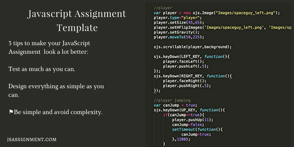 tips for javascript assignment template