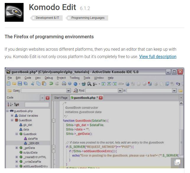 komodo screenshot