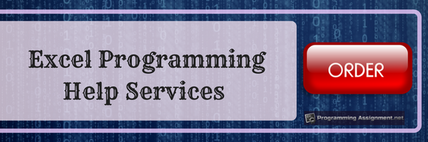 excel programming help services