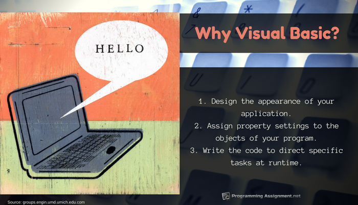 where to apply visual basic programming