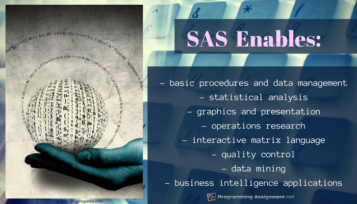 why use sas programming